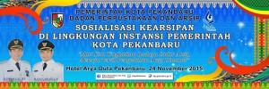 Banner Sosialisasi Kearsipan BPA Kota Pekanbaru