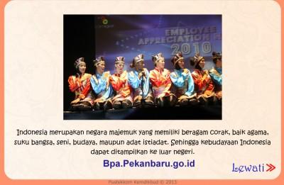 Jenis-jenis budaya Indonesia rumah baca BPA Pekanbaru