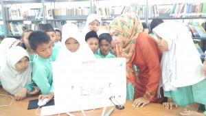 Pengenalan OPAC BPA Kota Pekanbaru Ke Peserta Kunjungan SDN 58