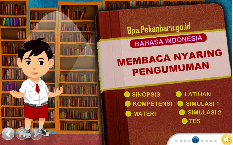 Rumah belajar BPA SD Bahasa Indonesia 4-2 Menbaca Nyaring Pengumuman
