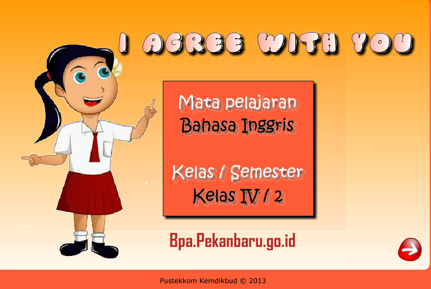 Rumah belajar BPA SD Bahasa Inggris 4-7 I Agree With You