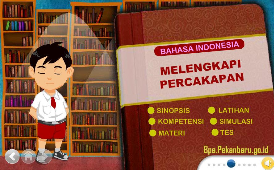 Rumah belajar BPA Sd Bahasa Indonesia 4 melengkapi percakapan