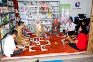 Sharing informasi antara camat Pekanbaru Kota, Gramedia, Rumah Zakat, dan BPA Kota Pekanbaru