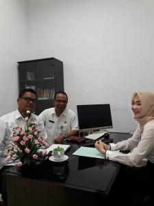 kunjungan Kepala Bidang Statistik Dinas Komunikasi