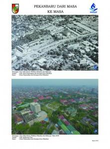 Potret Kantor Walikota Pekanbaru dan sekitarnya dari udara