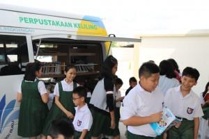 Dinas Perpustakaan dan kearsipan kota Pekanbaru bekerja sama GPMB kota Pekanbaru ke SD Darma Yuda