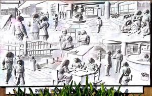 Beberapa Relief yang mengelilingi Gedung Perpustakaan Soeman HS2