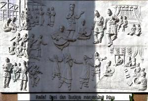 Beberapa Relief yang mengelilingi Gedung Perpustakaan Soeman HS3