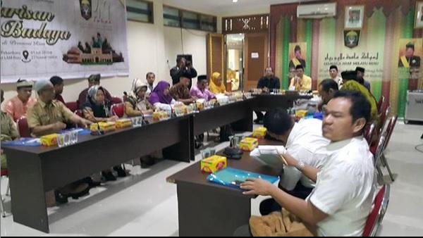 Diskusi Pengelolaan Warisan Budaya Provinsi Riau