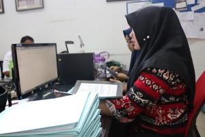 Alih Media terhadap arsip-arsip milik Dinas Koperasi dan UMKM Kota Pekanbaru.