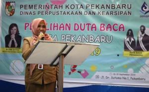 Kadispusip buka seleksi duta baca pekanbaru tahun 2019