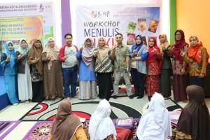 workshop menulis buku di dispusip pekanbaru 2019