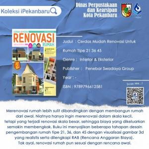 Cerdas Mudah Renovasi Untuk Rumah Tipe 21 36 45
