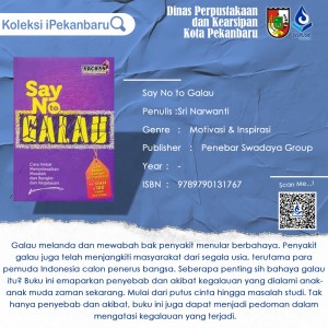 say no to galau template